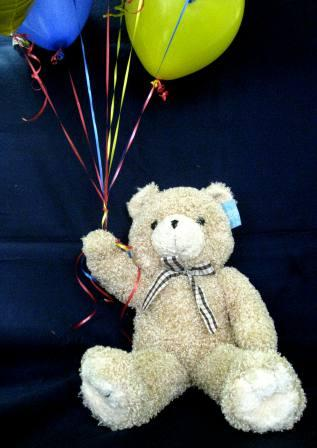 Plush Curly Teddy Bear With Balloons 50 60
